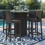 Sol 72 Outdoor Fairfield 5 Piece Bar Height Dining Set Reviews