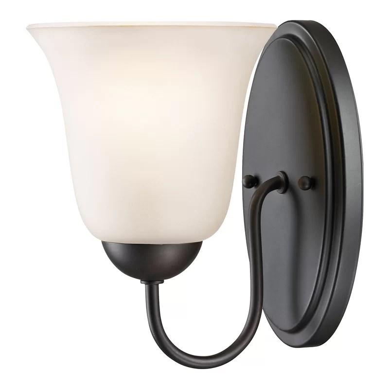Winston Porter Cathy 1-Light Bath Sconce & Reviews   Wayfair on Wayfair Bathroom Sconces id=86247