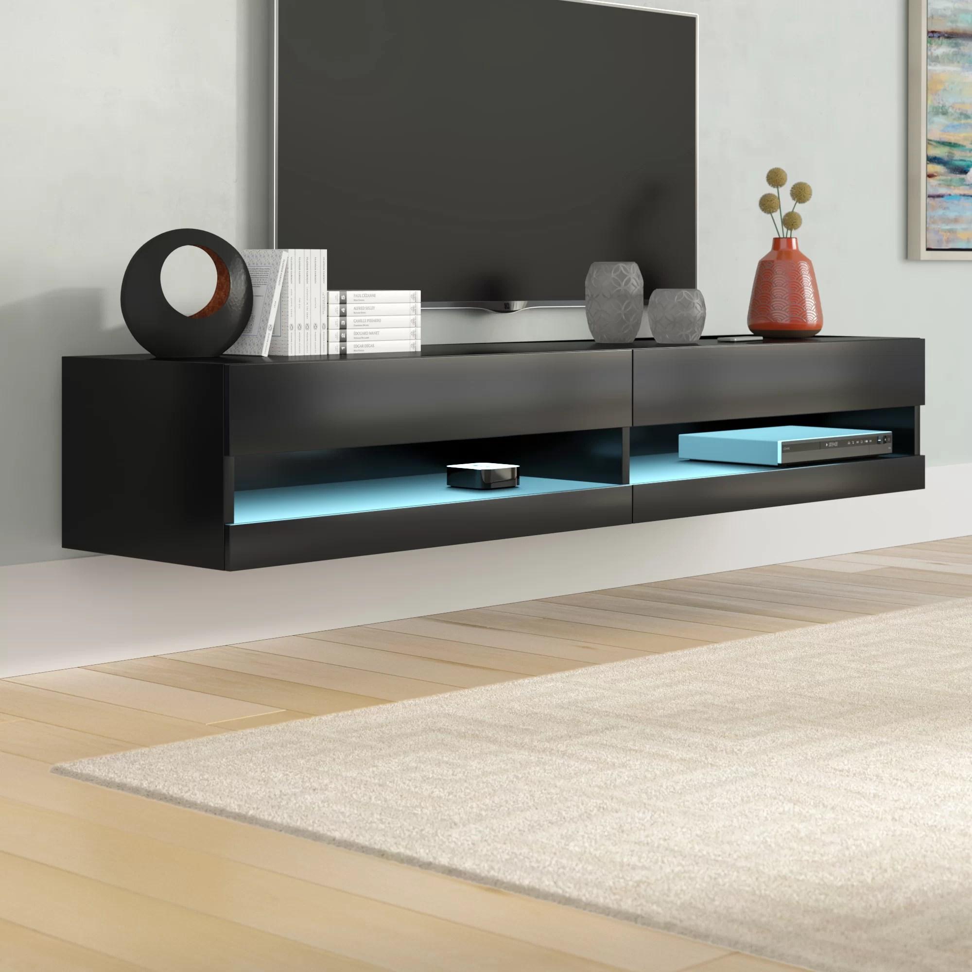 meuble tele flottant pour televiseurs de 78 po ou moins ramsdell