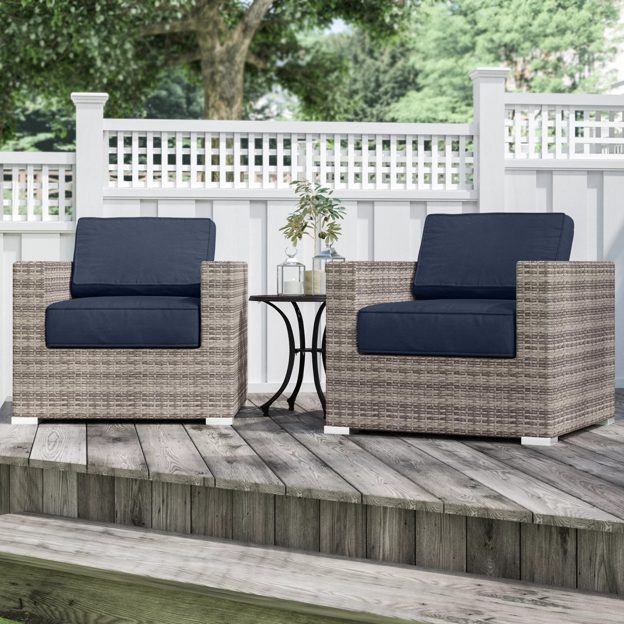 hulda resort grade club patio chair with sunbrella cushions