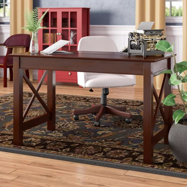 Peachy Tolley Solid Wood Desk By Charlton Home Download Free Architecture Designs Grimeyleaguecom