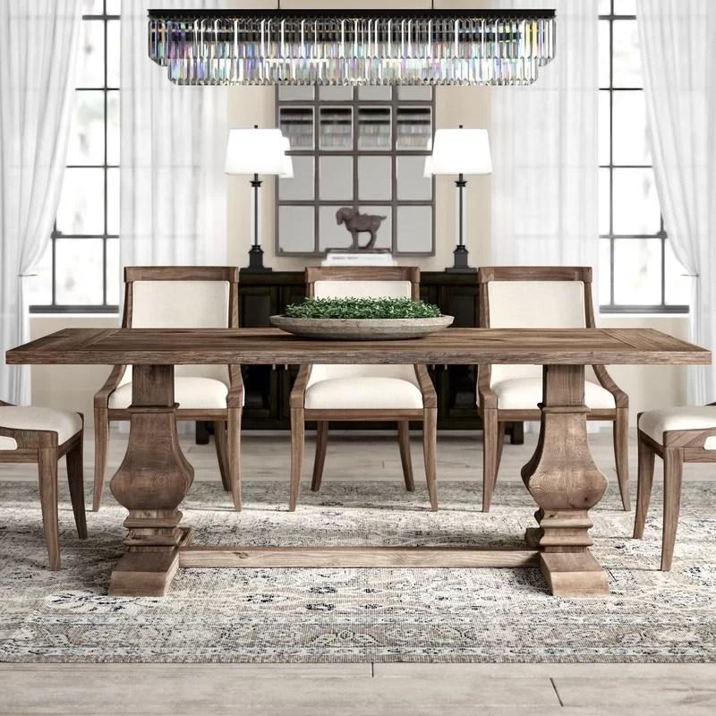 tekamah pine solid wood dining table reviews joss main on solid wood dining table id=87580