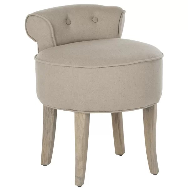 leather vanity stool
