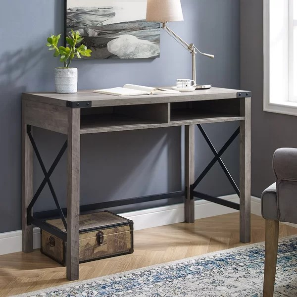 Astonishing Eby Farmhouse Metal And Wood Desk By Gracie Oaks Cheap Dailytribune Chair Design For Home Dailytribuneorg