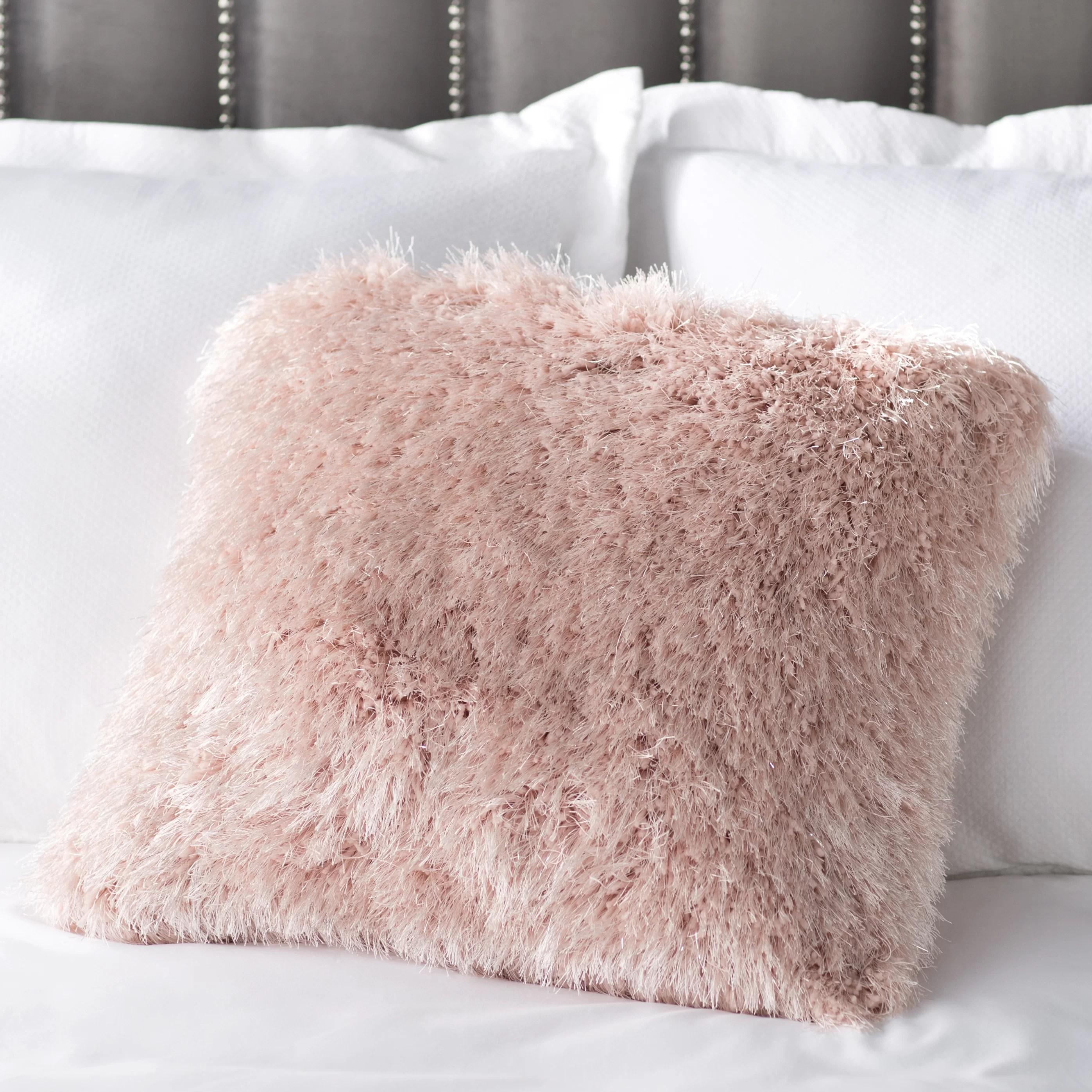 allyson shag square pillow cover insert
