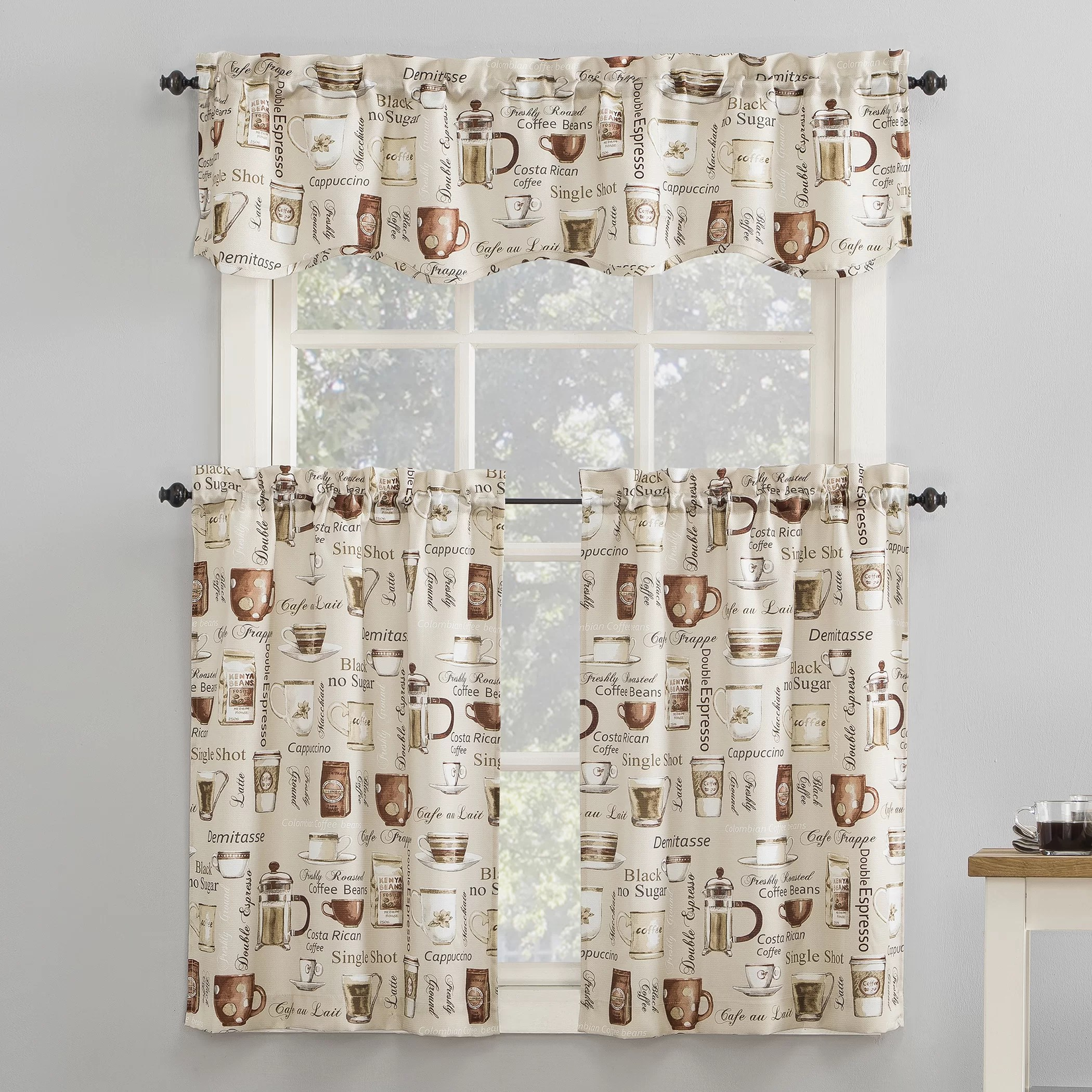 kitchen window curtain set better homes