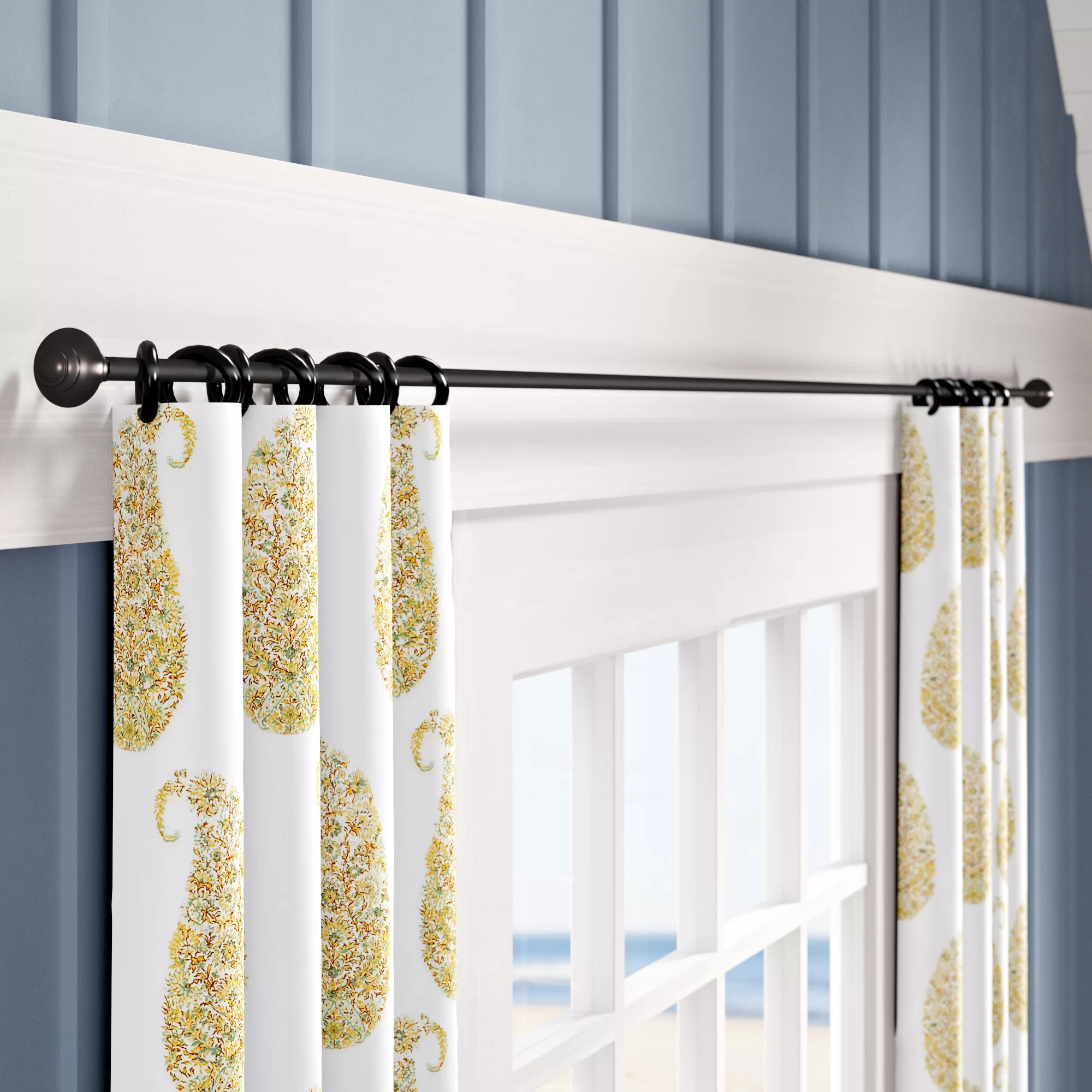 15 ft rod curtain hardware
