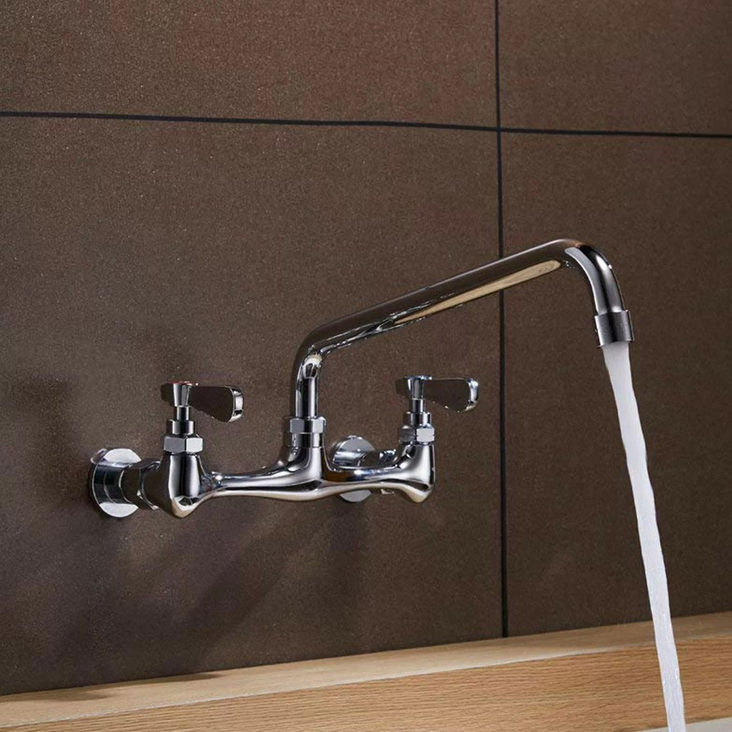 two handle commercial sink wall mount faucet hot and cold water dispensers