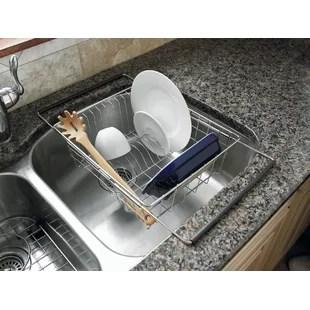 sink stainless steel in sink dish rack