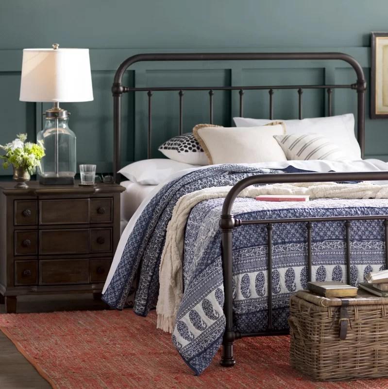 Laurel Foundry Modern Farmhouse Harlow Metal Panel Bed Amp Reviews Wayfairca