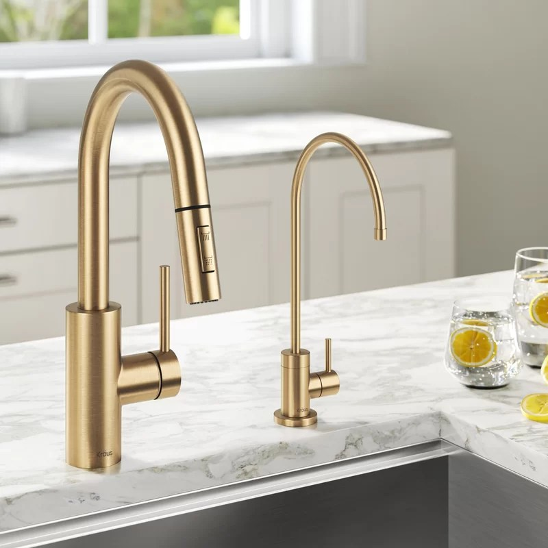 oletto filter combination pull down single handle kitchen faucet