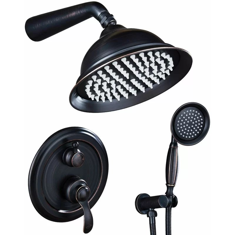 shower faucet system combo 8 inch