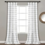Gutirrez Striped Semi Sheer Curtain Panels Reviews Allmodern