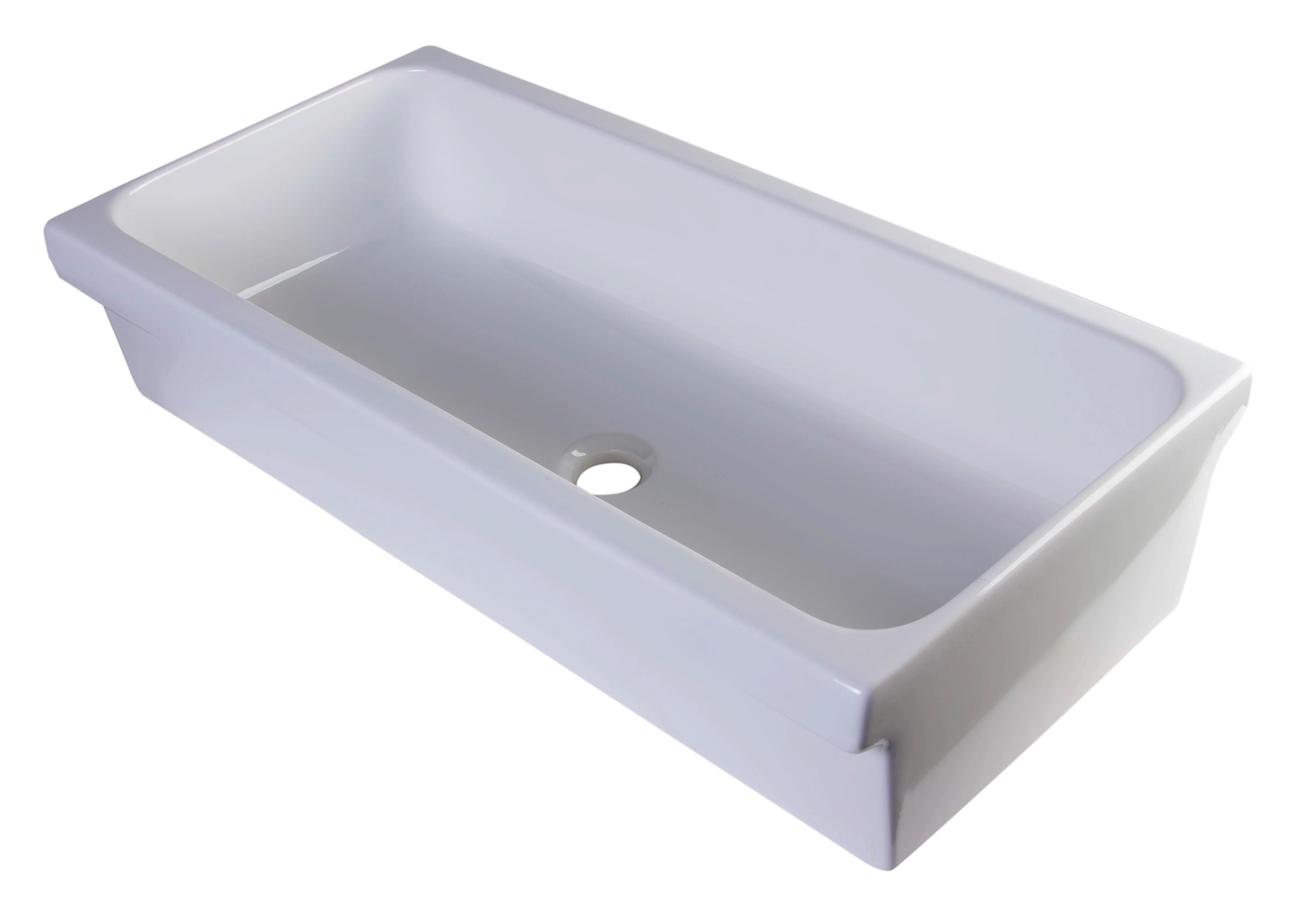alfi brand fireclay rectangular trough bathroom sink reviews wayfair