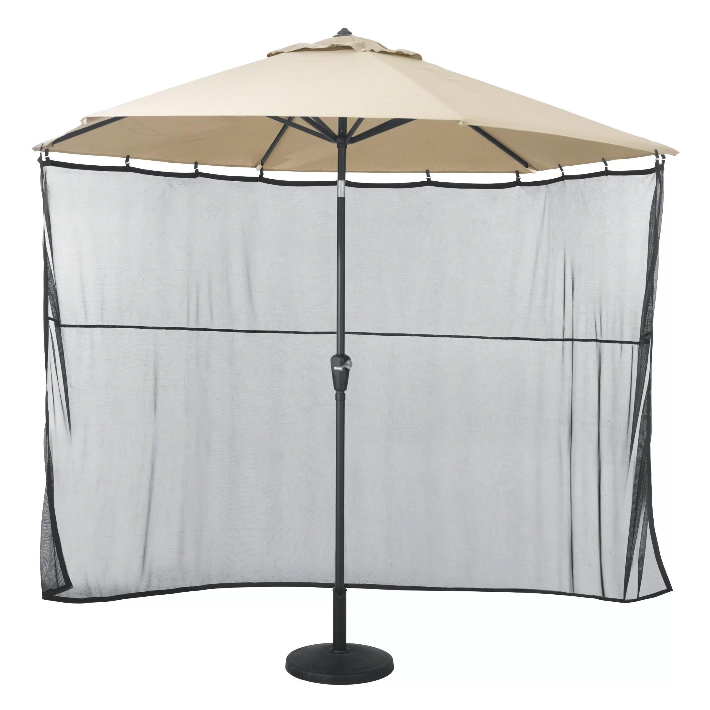 arlmont co pereira water resistant patio umbrella side wall sun shade netting reviews wayfair