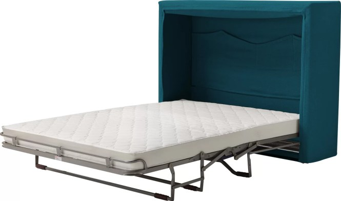 Sue Full Double Upholstered Murphy Bed With Mattress