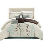 Duvets Beautiful Rich Elegant Brown Blue Aqua Ivory Beige Comforter Set Pillows New Home Furniture Diy Tallergrafico Com Uy