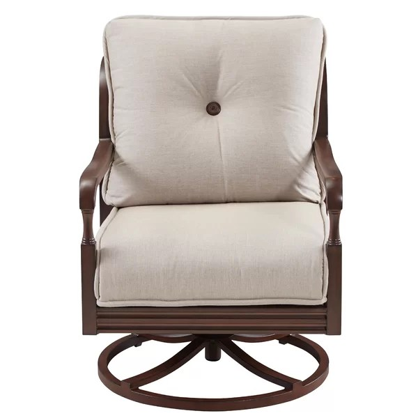 Canora Grey Bade Lounge Swivel Chair with Cushions ... on Bade Outdoor Living  id=65742
