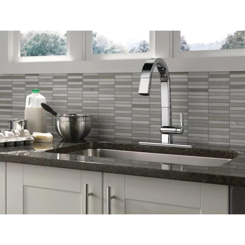 pivotal pull down single handle kitchen faucet