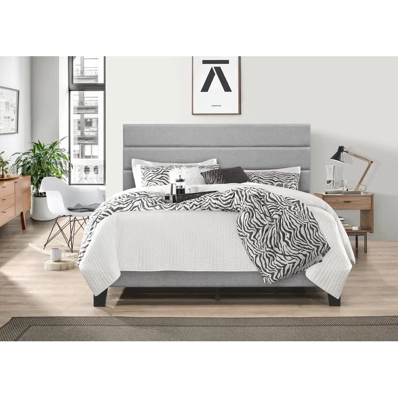 Aghadavy Upholstered Low Profile Platform Bed