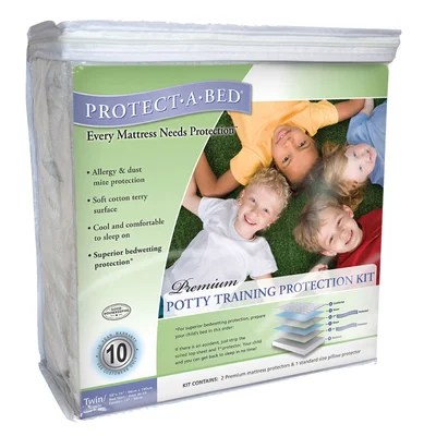 Protect A Bed Premium Potty Training Hypoallergenic Waterproof Mattress Protector Kit Reviews Wayfair