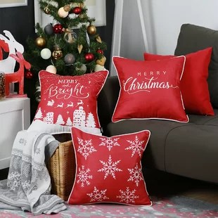 lomonaco merry christmas square pillow cover set of 4