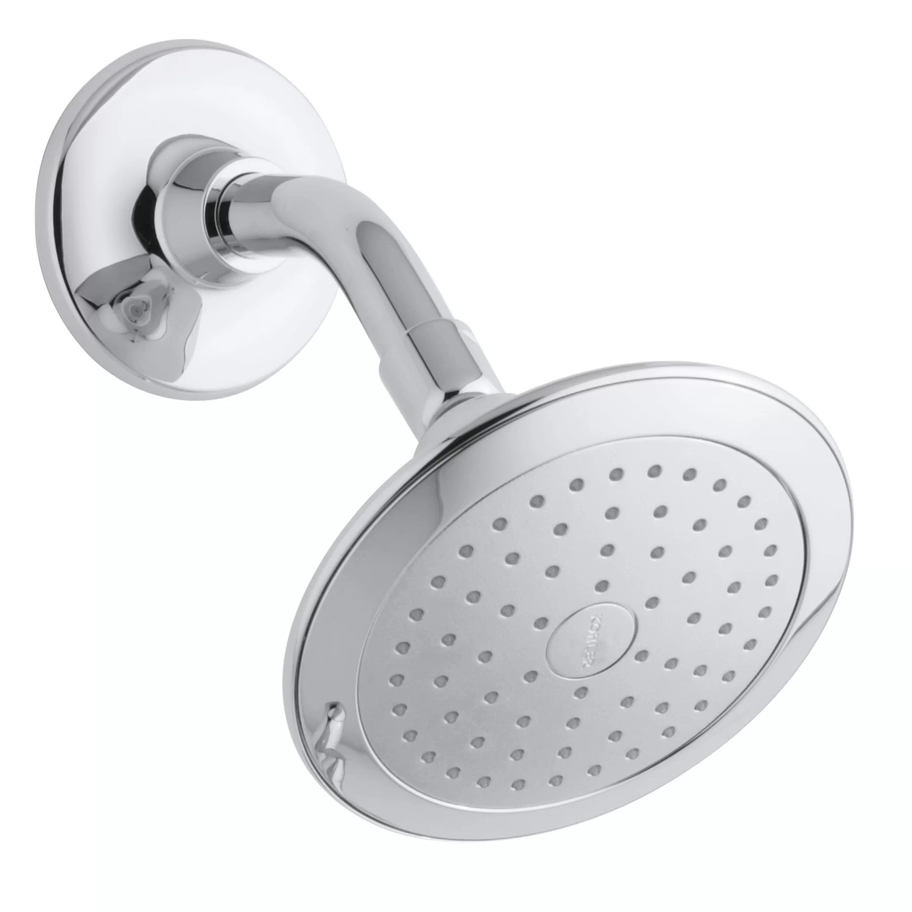 Alteo 2 5 Gpm Single Function Wall Mount Shower Head With Katalyst Air Induction Spray