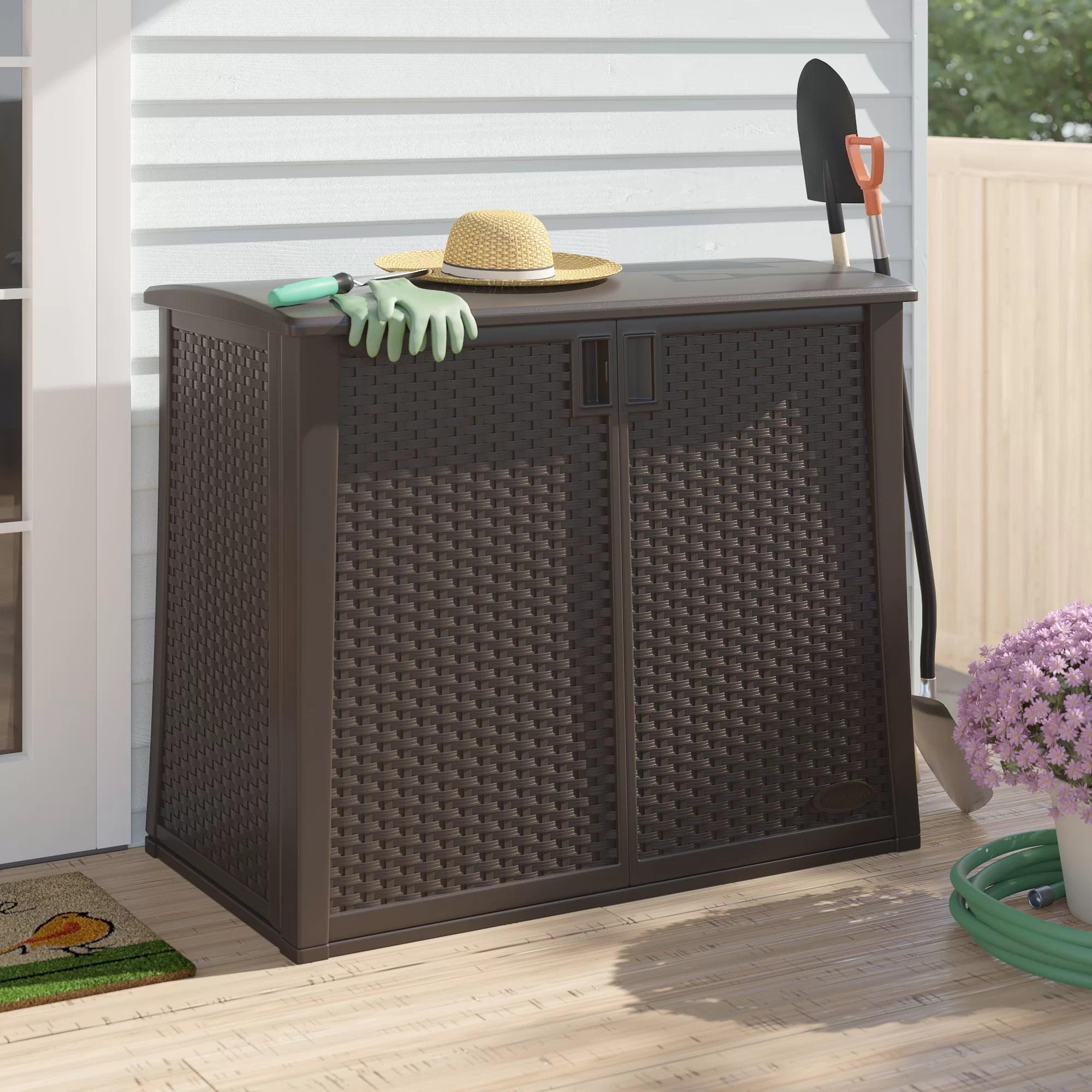 java outdoor storage 97 gallon resin cabinet
