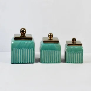 ribbed 3 piece kitchen canister set