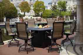 Canora Grey Millman 7 Piece Bar Height Dining Set With Firepit