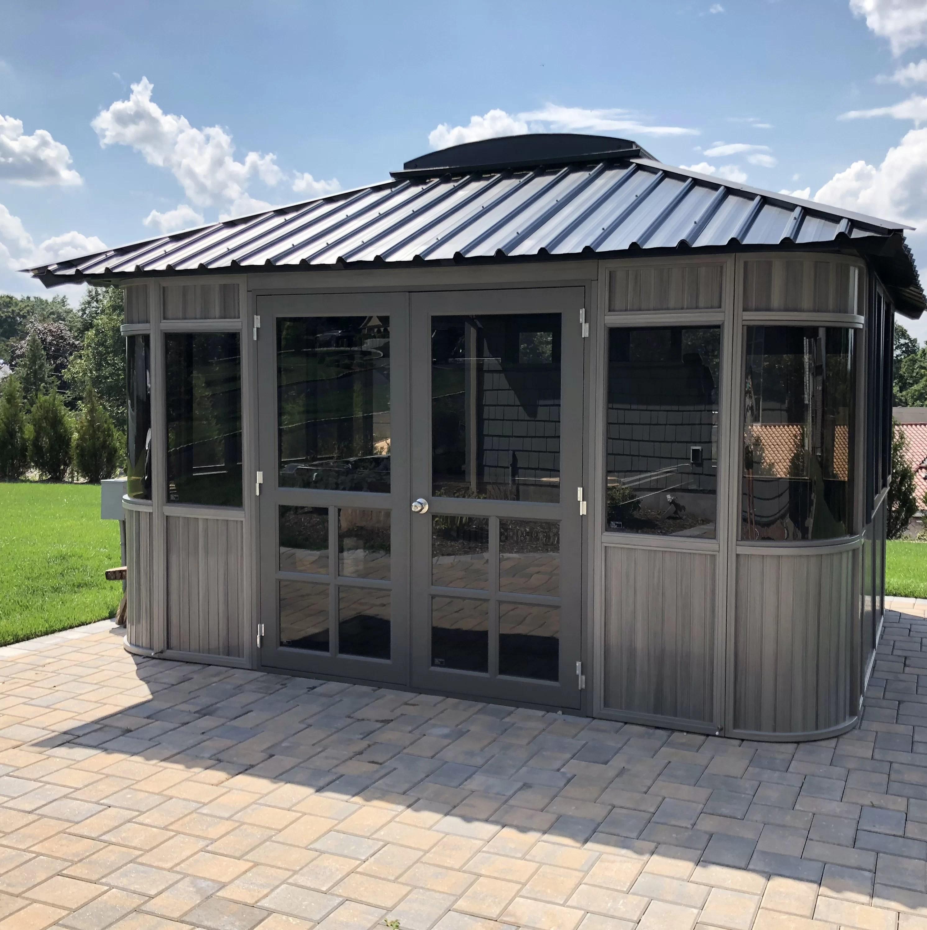 colorado 13 5 ft w x 11 5 ft d aluminum patio gazebo