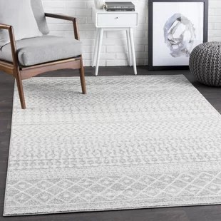 borgen geometric gray area rug