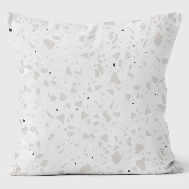 Terrazzo Con Cuore Rosa Art Print Cushion