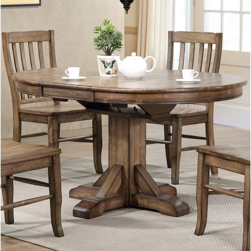 charmine extendable solid wood oval dining table reviews on solid wood dining table id=87245