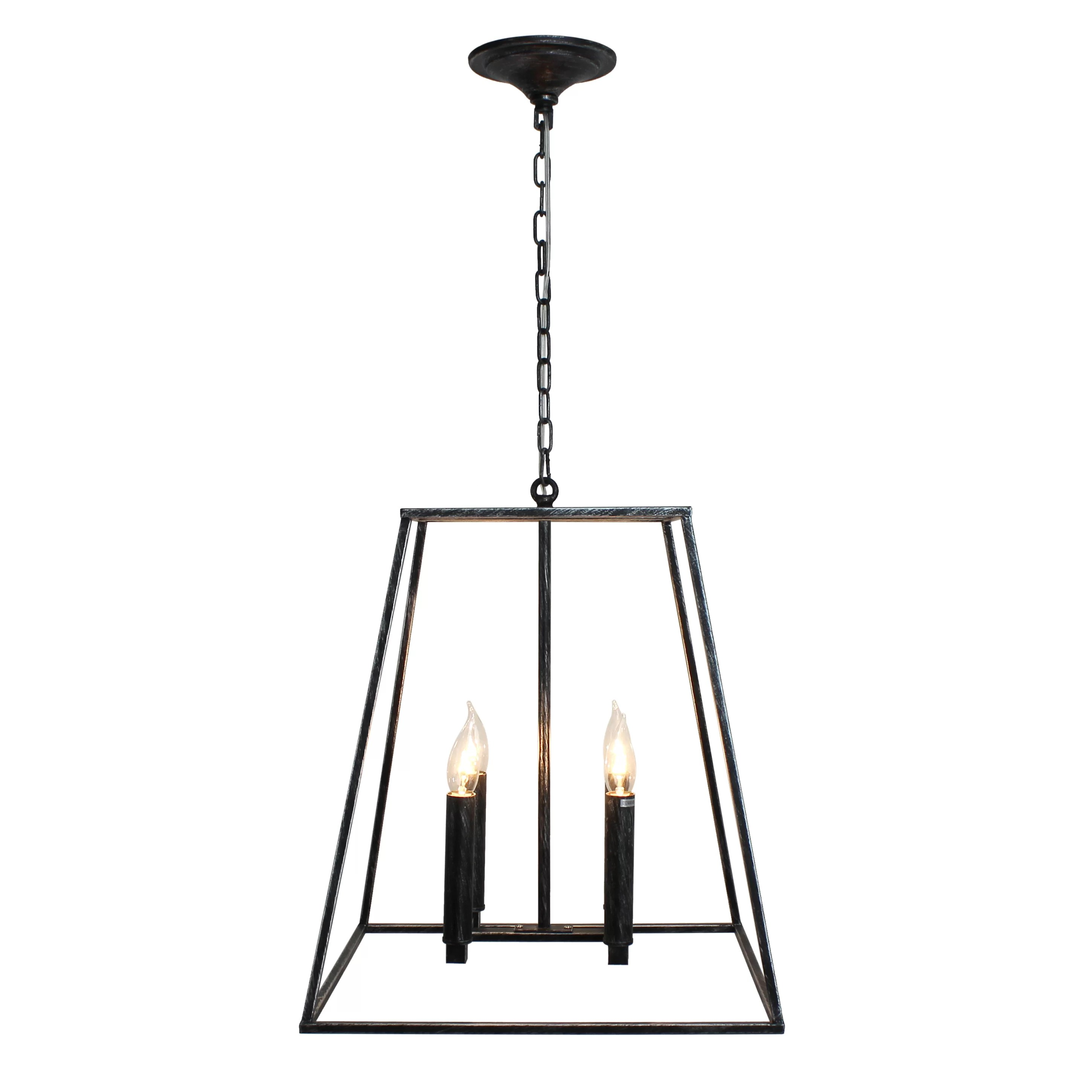 Gracie Oaks Gawon 4 Light Square Rectangle Chandelier