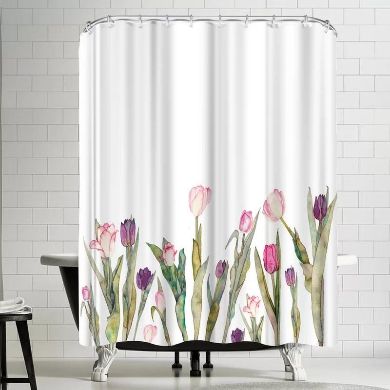 elena oneill tulips single shower curtain
