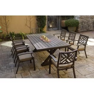farmhouse rustic outdoor dining sets