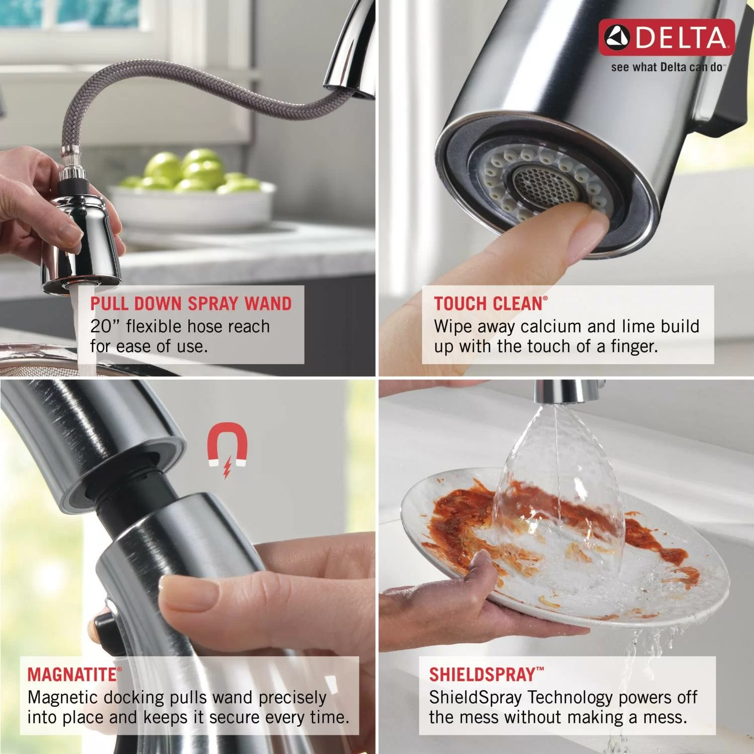 delta cassidy kitchen pull down faucet with magnetic docking 9197 pn dst kitchen faucets home improvement