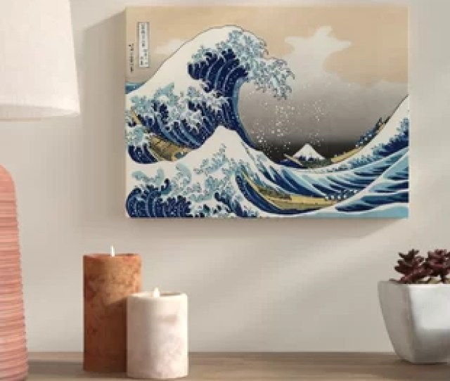 The Great Wave Off Kanagawa Graphic Art Print On Wrapped Canvas