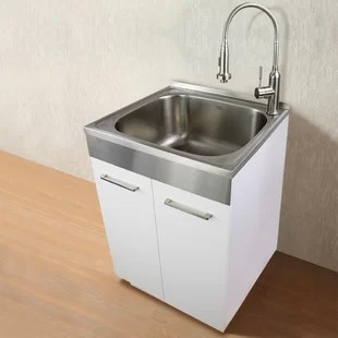 23 6 l x 19 7 w free standing laundry sink with faucet