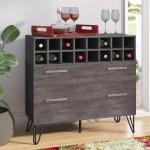 Langley Street Aguirre Mid Century Bar Cabinet Reviews Wayfair