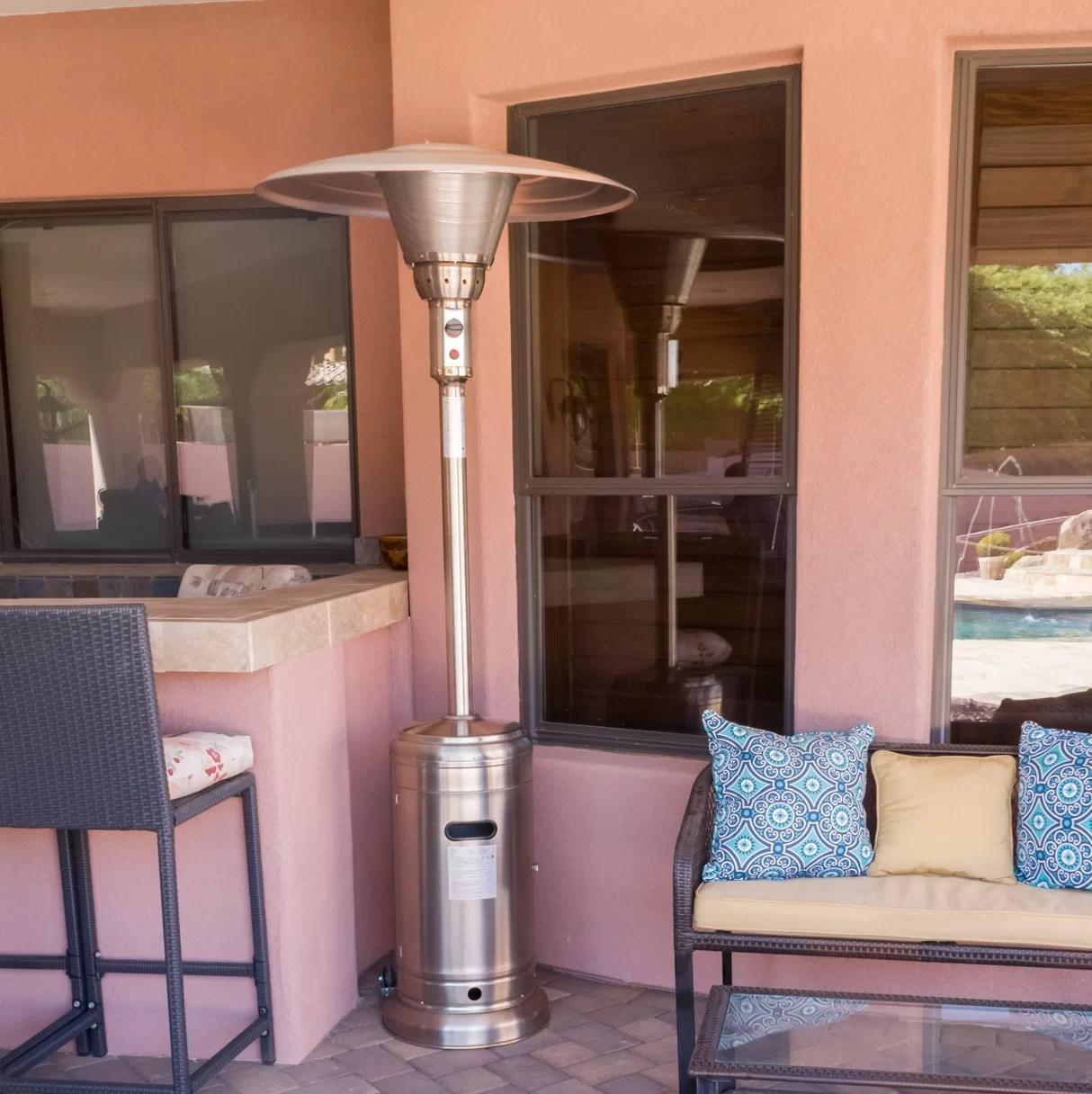 az patio heaters 45 000 btu propane patio heater wayfair