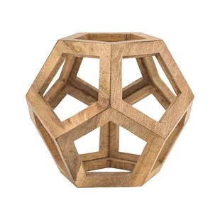 Wooden Honeycomb Orb Sculpture