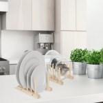 Gracie Oaks Wooden Plate Holder 4 Section 2pcs Reviews Wayfair Ca