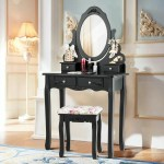 Luxes Vanity Dressing Table Make Up Desk With Stool Mirror Jewellery Storage Bedroom Home Kitchen Dressing Tables