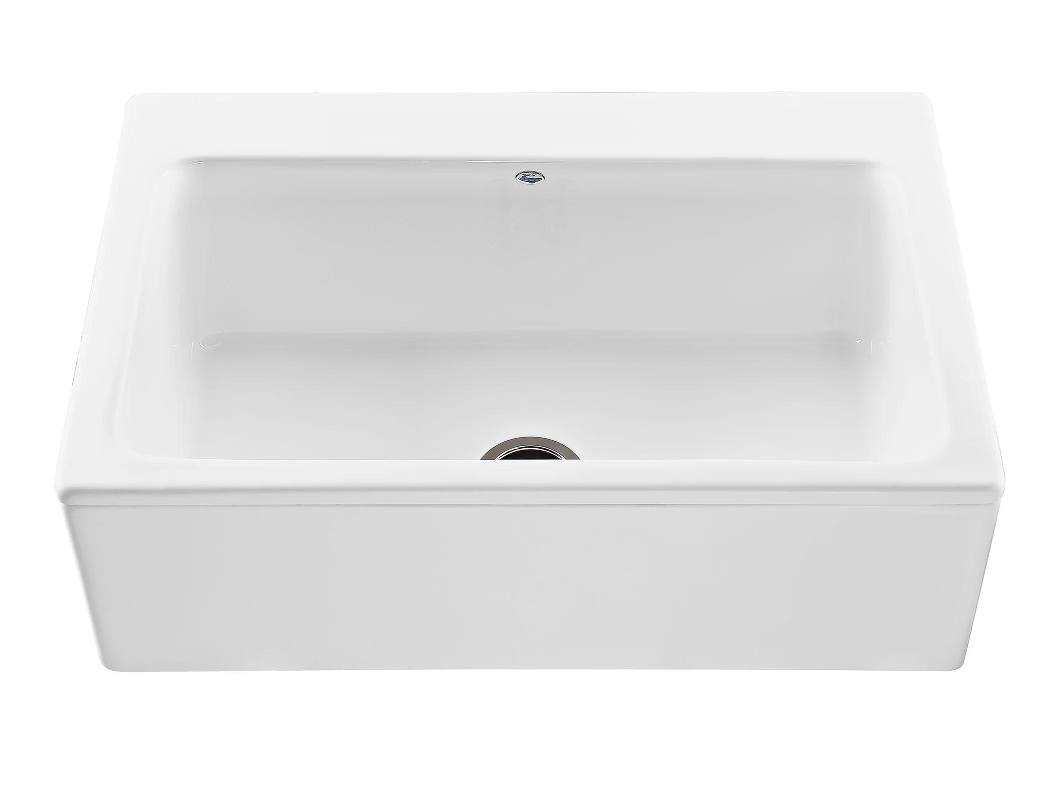 Reliance Mccoy 33 L X 22 25 W Farmhouse Apron Kitchen Sink Reviews Allmodern