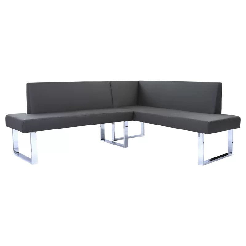 Grey Leather Sectional Reclining Sofa Sets For Liv