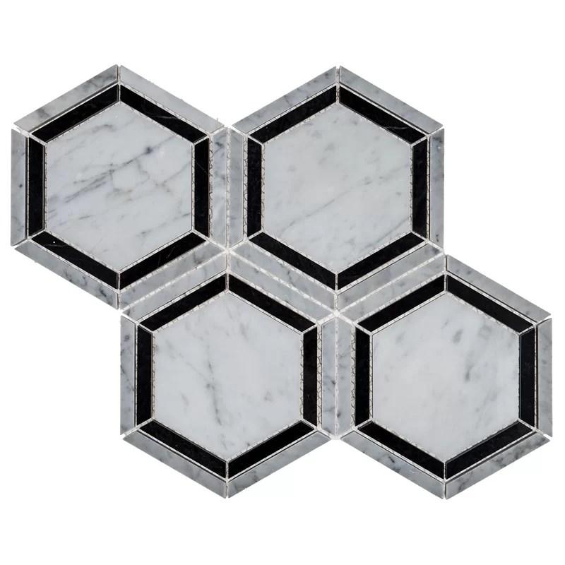 hingham 6 x 6 natural stone mosaic tile