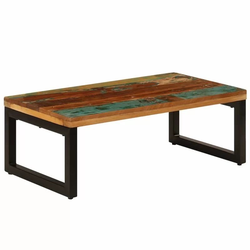 cottleville solid reclaimed wood and steel coffee table