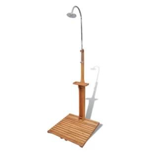 freestanding outdoor shower